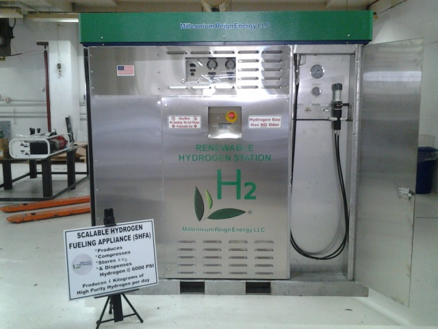 Model 100 Hydrogen Fueling Appliance