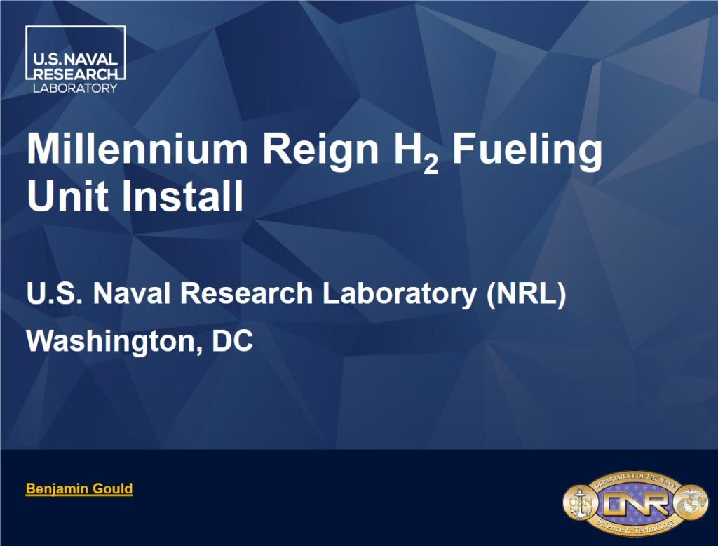 Naval Research Laboratory Hydrogen Fuel Generator MRE